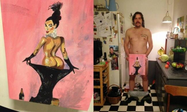 Dipinge col pene la copertina di Kim Kardashian su Paper Magazine FOTO