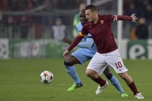 Roma-Manchester City 0-2, pagelle: Totti e Maicon deludenti in Champions