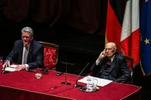 """Italia-Germania, Napolitano: """"Il dissenso non sia mai meschinità"""""""