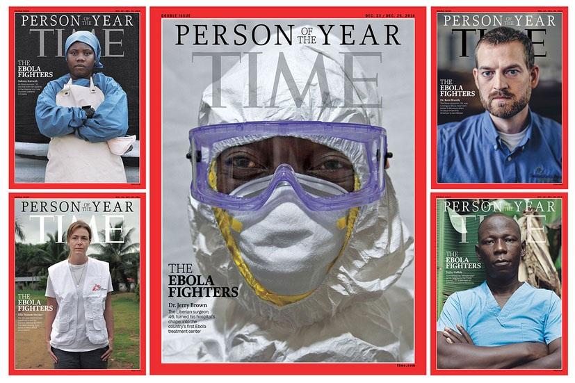 Ebola fighters personaggi dell'anno secondo la rivista Time