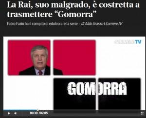 Aldo Grasso: Gomorra sulla Rai, malgrado la Rai. Ed edulcorata da Fabio Fazio