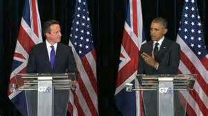 David Cameron e Barack Obama