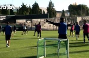 Alvaro Negredo video gol da posizione impossibile in allenamento