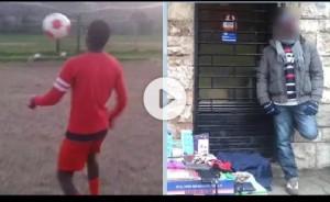 """Mamadou, """"baby Balotelli"""" vende accendini in strada: non può giocare a calcio"""
