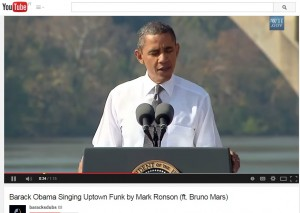 "VIDEO Youtube: Barack Obama ""canta"" Uptown Funk di Mark Ronson ft. Bruno Mars"