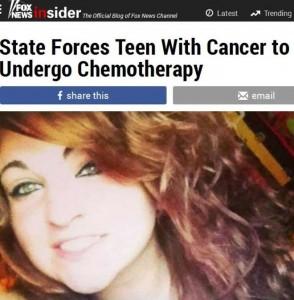 Cassandra, la ragazza di 17 anni obbligata per legge a fare la chemioterapia