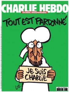 """Charlie Hebdo è tornato in edicola con questa vignetta che raffigura Maometto con il cartello """"Je suis Charlie"""""""