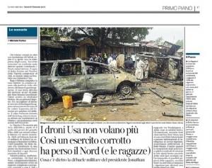 I droni Usa non volano più in Nigeria. Michele Farina, Corriere della Sera