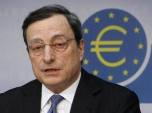 Mario Draghi, presidente della Bce (foto Lapresse)