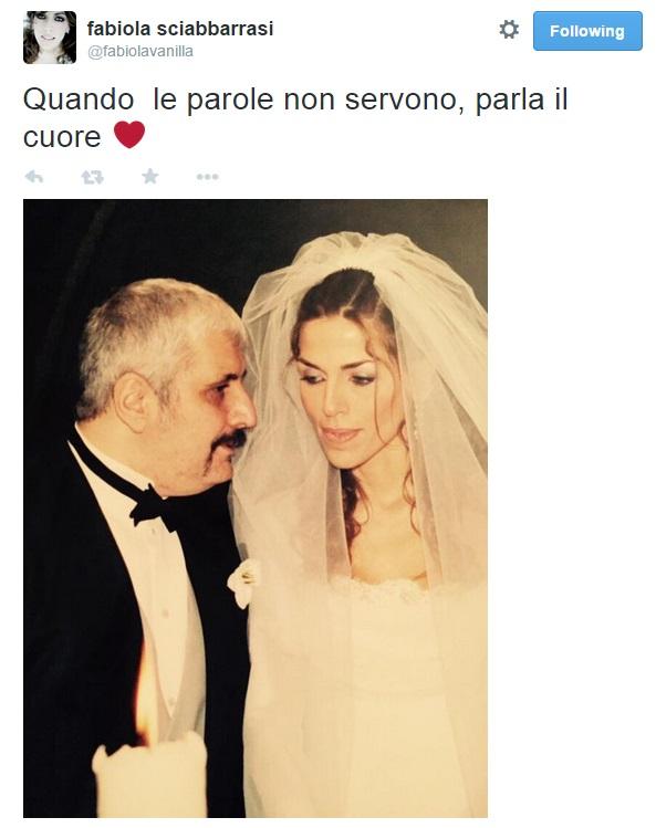 Pino Daniele e Fabiola Sciabbarrasi FOTO matrimonio su Twitter di lei
