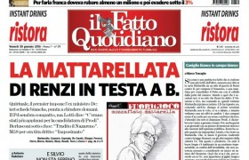 """Marco Travaglio sul Fatto Quotidiano: """"Coniglio bianco in campo bianco"""""""