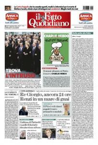 """Marco Travaglio sul Fatto Quotidiano: """"Dalla palta alla Paita"""""""