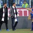 Sampdoria, Massimo Ferrero con Samuel Eto'o e Luis Muriel FOTO04