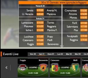 Foggia-Benevento: diretta streaming su Sportube.tv, ecco come vederla