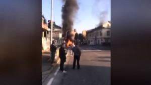Pogliano Milanese, esplode furgone bombole come proiettili VIDEO