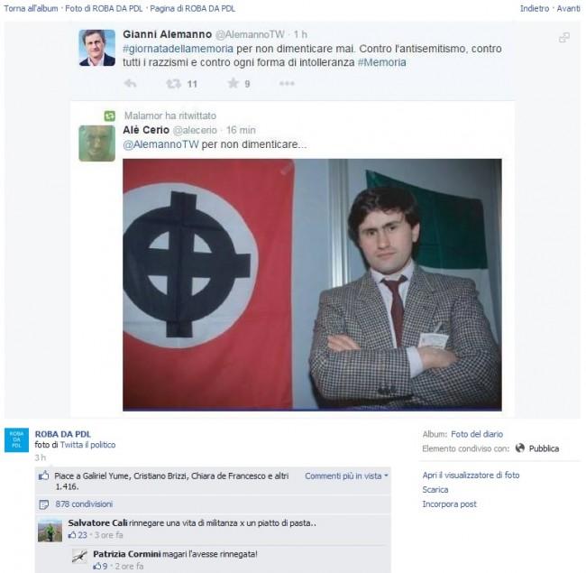 Gianni Alemanno fra Auschwitz e la celtica FOTO