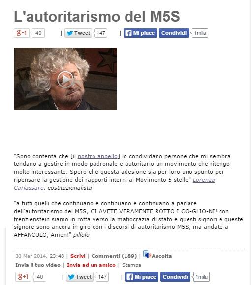 """Lorenza Carlassare, candidata M5S Quirinale. Ma Beppe Grillo la mandò...""""affa"""""""