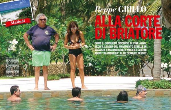 Beppe Grillo, vacanze con Flavio Briatore in Kenya: foto Chi