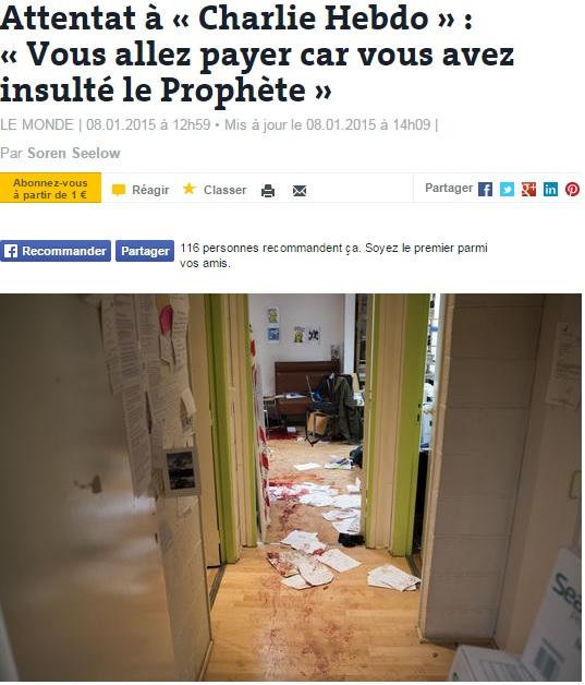 Charlie Hebdo, FOTO dentro la redazione: fogli e sangue a terra