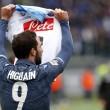 Lazio-Napoli, Higuain: maglia per Insigne dopo il gol FOTO