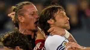 VIDEO. Lazio-Milan, Mexes espulso dopo aggressione a Mauri
