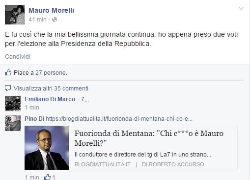 """Enrico Mentana: """"Chi cazzo è Mauro Morelli?"""" VIDEO"""