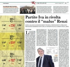 """Partite Iva in rivolta contro il """"malus"""" Renzi. Carlo Di Foggia, Fatto Quotidiano"""