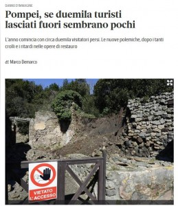 Pompei chiusa per ferie. Ma questa volta i turisti hanno torto