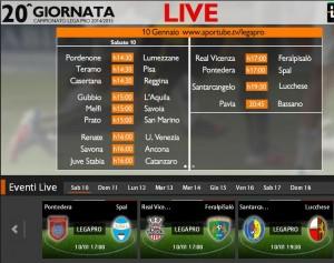 Real Vicenza-FeralpiSalò: diretta streaming su Sportube.tv, ecco come vederla
