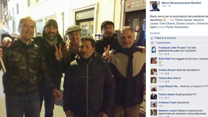 Tiziano Azzara-Marco Morbioli-Massimo Lazzari: selfie M5s dopo attacco Rizzetto