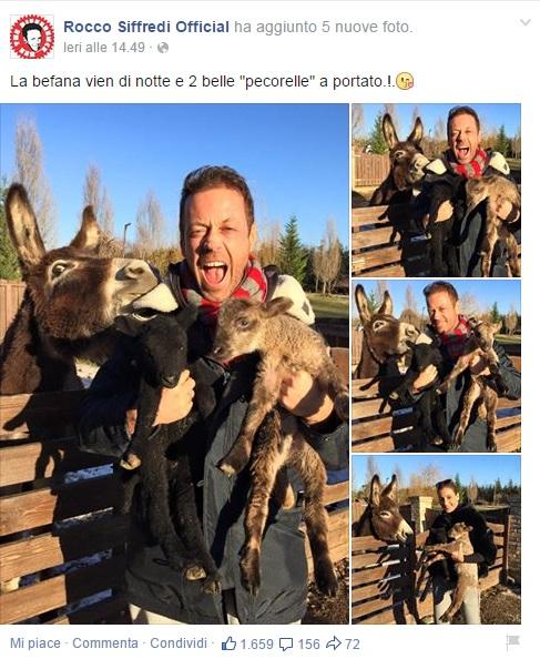 Il post di Rocco Siffredi (foto Facebook)