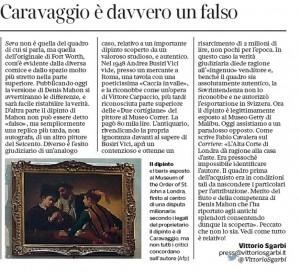 La lettera di Vittorio Sgarbi al Corriere della Sera