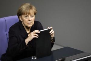Angela Merkel (foto Lapresse)