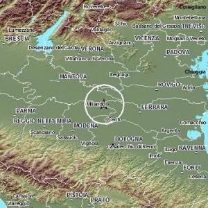 Terremoti: scossa vicino Finale Emilia. Magnitudo 2.5