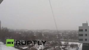 Ucraina, quel che resta dell'aeroporto di Donetsk: telecamera fissa e volo drone
