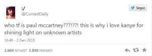 "Kanye West duetto con Paul McCartney, fan del rapper: ""Ma chi è???"" VIDEO"