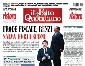 """Marco Travaglio sul Fatto Quotidiano: """"Il Lodo Nazareno"""""""