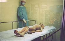 Manichino esposto all'International UFO Museum di Roswell (foto Wikipedia)