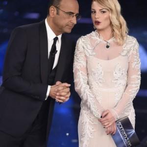 Emma Marrone e Carlo Conti (foto Lapresse)