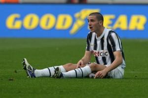Bonucci video gol e esultanza con volo in Juventus-Milan