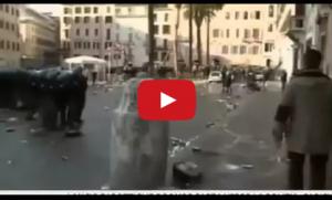 VIDEO YouTube, Roma-Feyenoord: scontri polizia-tifosi olandesi in centro