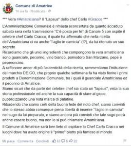 """Amatrice contro Carlo Cracco: """"Niente aglio nell'amatriciana"""" FOTO"""