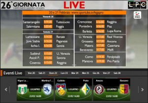 Arezzo-Bassano: diretta streaming su Sportube.tv, ecco come vederla