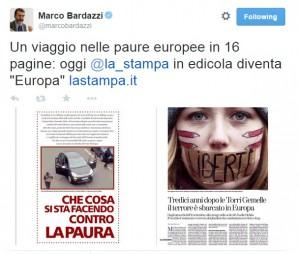 """Marco Bardazzi e terrorismo islamico alle porte: """"Viaggio nelle paure europee"""""""