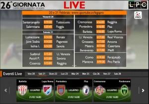Barletta-Lupa Roma: diretta streaming su Sportube.tv, ecco come vederla