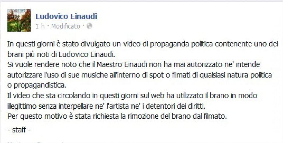 """Ludovico Einaudi diffida M5s: """"Via il mio brano dal video anti-euro"""""""