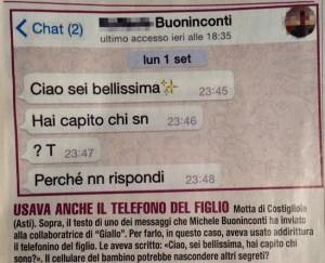 I messaggi mandati da Michele Buoninconti alla giornalista di Giallo