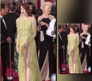 Emma Stone, incidente hot sul red carpet (foto da video)