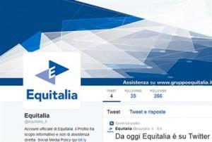 """Equitalia sbarca su Twitter, ma gli utenti si scatenano: """"Che brutta notizia"""""""