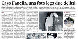 """Silvio Fanella-Giovanni Di Leonardo. Messaggero: """"Una foto lega due delitti"""""""